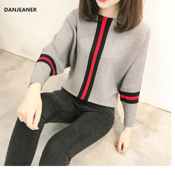 Danjeaner Повседневный стиль Женский вязаный свитер и пуловеры с длинным рукавом Женские свитера женские джемперы зима и осень 2018