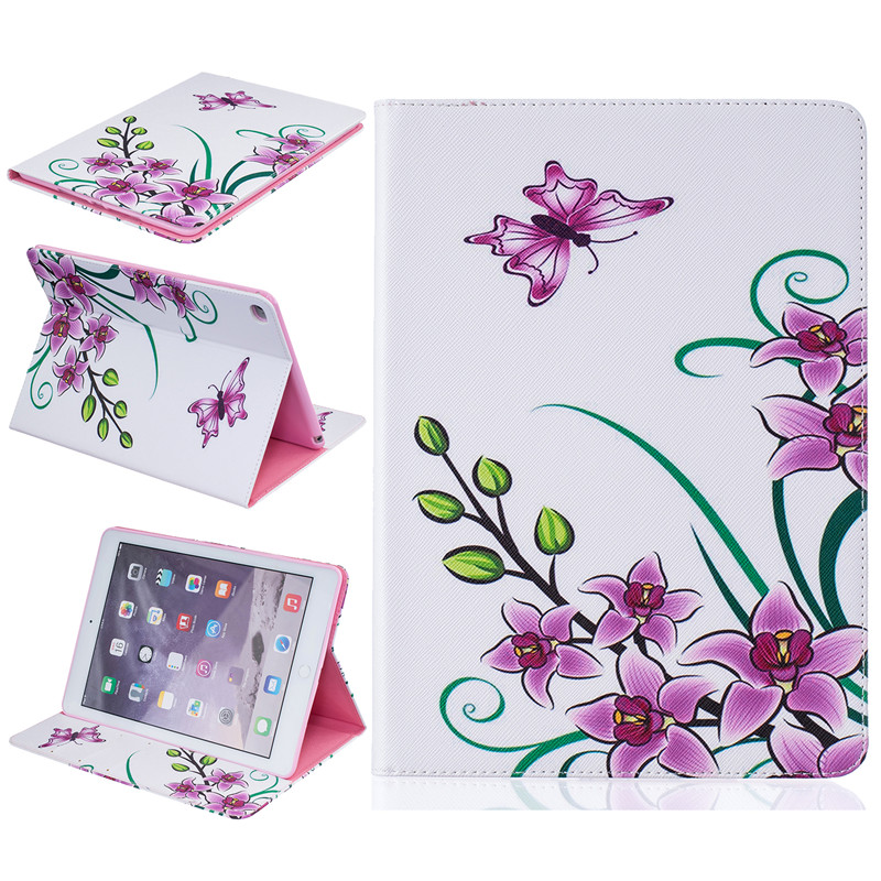 Flower Pattern For Apple iPad Air 2 case Book style Leather