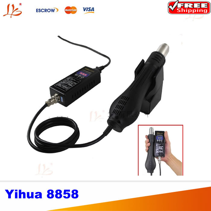 Free shipping 220V Portable BGA Rework Soldering Station Hot Air Blower Heat Gun Yihua 8858 Better Saike 8858 ems dhl fast shipping 230v 3000w heat element for for heat gun handheld hot air plastic welder gun plastic welder accessories