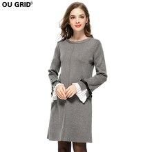 Весна Для женщин Платья-свитеры плюс Размеры Высокое качество бабочка рукавом-line Повседневное трикотажные Платья для женщин 2018 Европейский стиль Vestidos