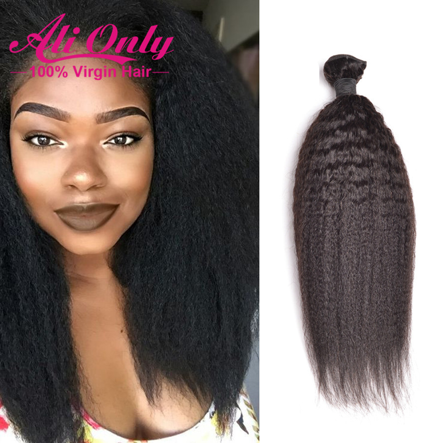 8a Malaysian Virgin Hair Kinky Straight Hair 3 Bundles Alionly Remy