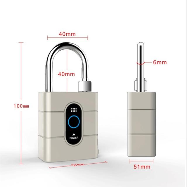 Newest Wireless Control Mini Padlocks Smart Bluetooth Padlock Anti-Theft Alarm Door Lock for IOS Android APP Control 5