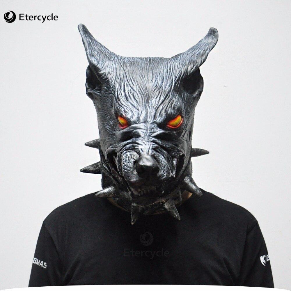 Scary wolf head masks halloween halloween creepy animal for Tap tap fish halloween event