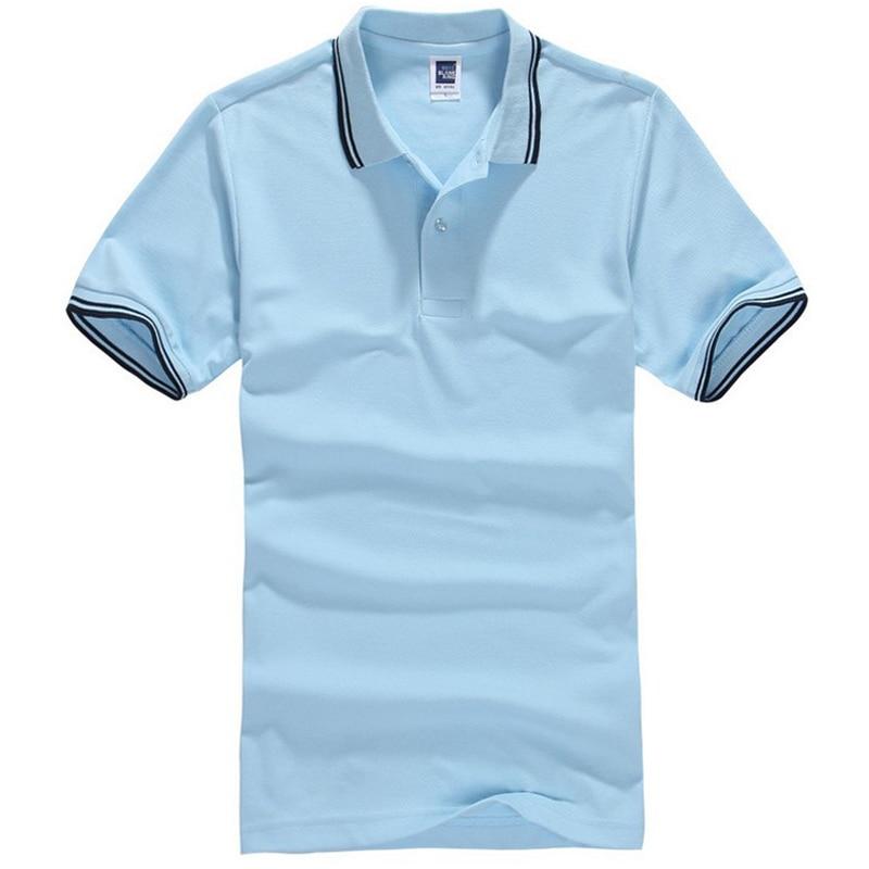 Men   Polo   Shirt Fashion Turn-down Collar Short Sleeve Shirts Camisa   Polos   Masculina Tee Tops Men Cotton Polyester   Polo   Shirt