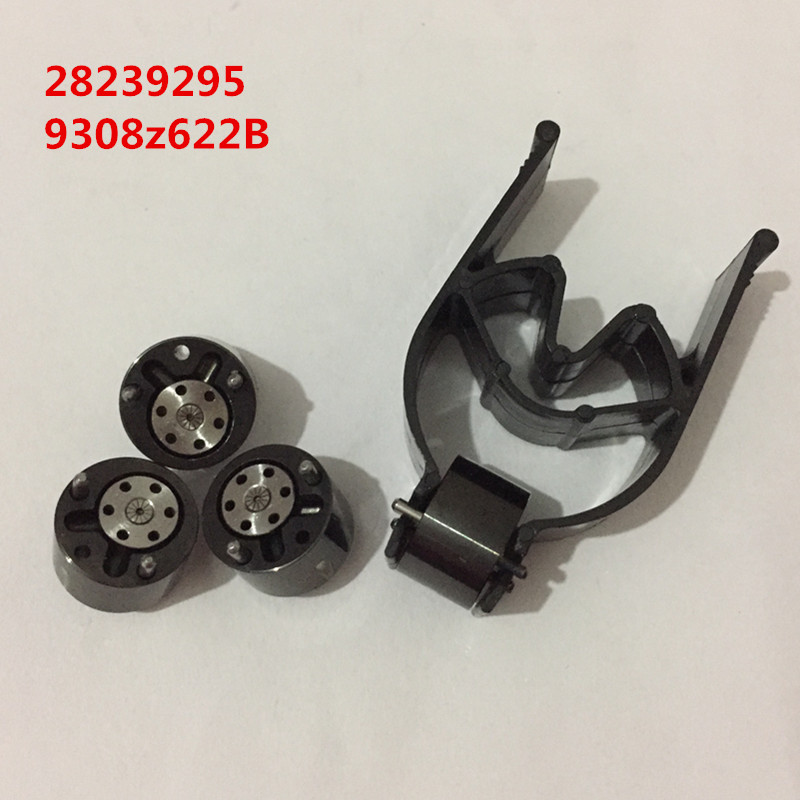 Free shipping black coating quality fuel injector nozzle control valve 28239295 9308 622B 28278897 common rail