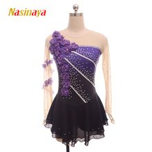 Nasinaya robe de patinage de figurine personnalisée, jupe de patinage sur glace, pour filles et enfants, gymnastique Performance, 109