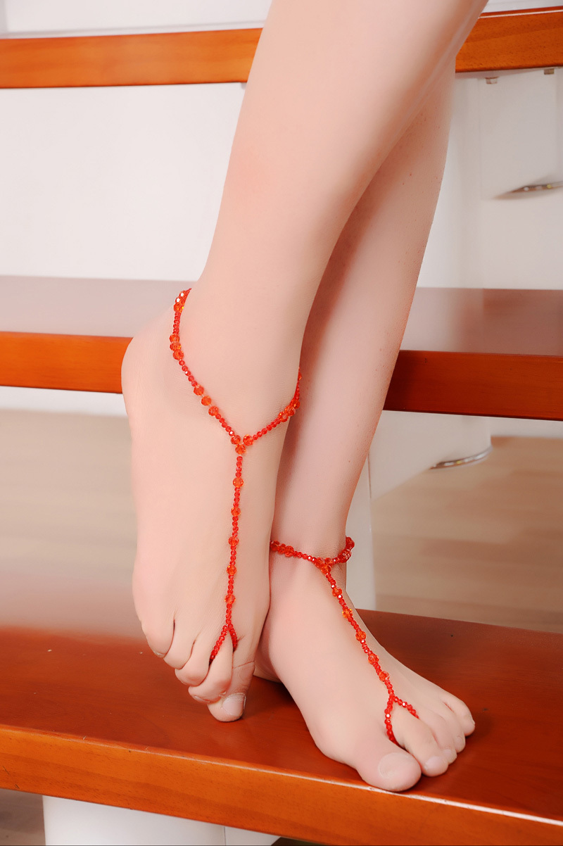 Handmade Sexy Anklet Chain Top Grade Crystal Anklet Bracelets Foot ...