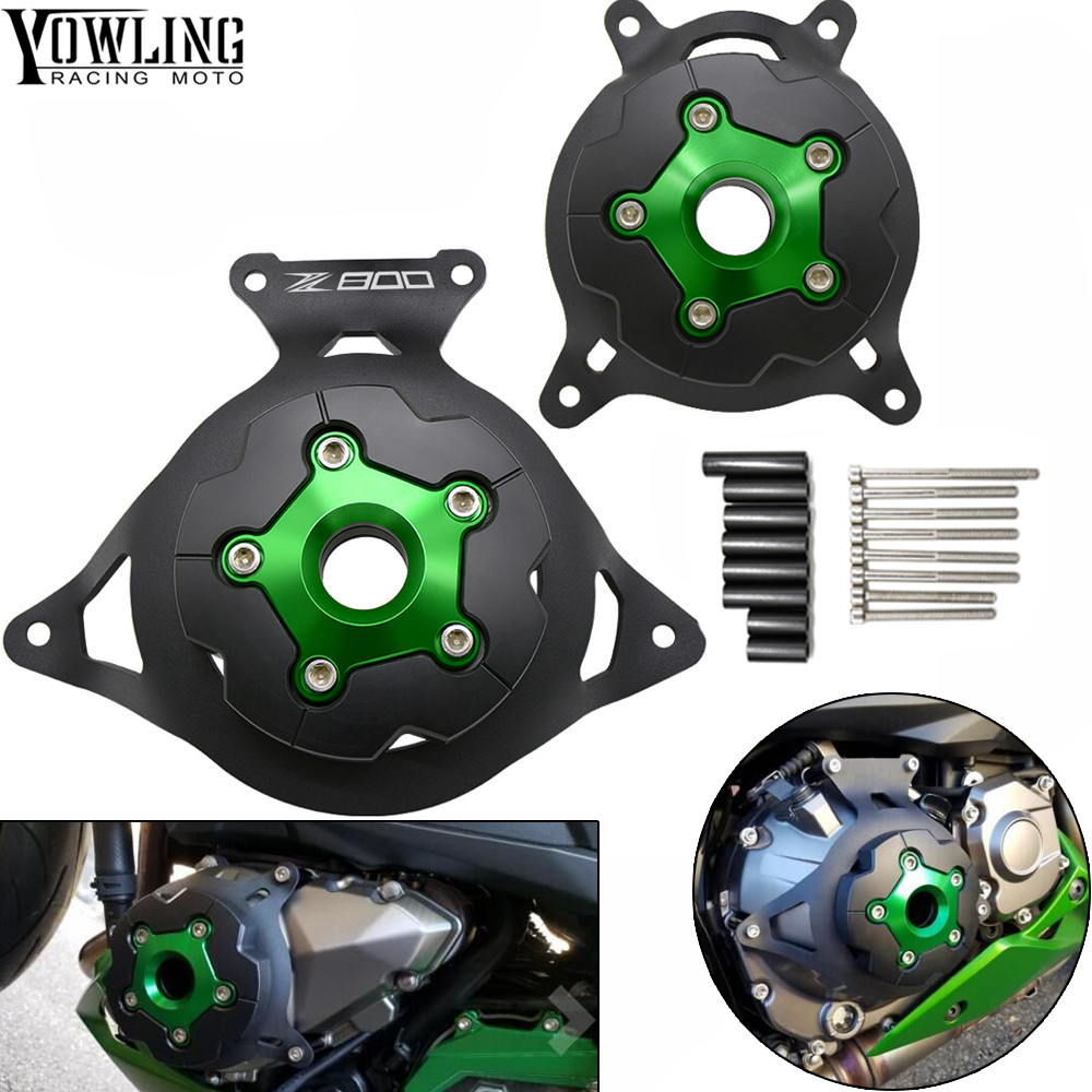 For Kawasaki Z750 Z800 2013 2014 2015 2016 Motorcycle Engine block Stator Cover Engine Guard Protection Side Shield Protector motorcycle cnc right side engine stator cover guard clutch protector guard for kawasaki z125 2015 2016 2017 z 125 moto accessory