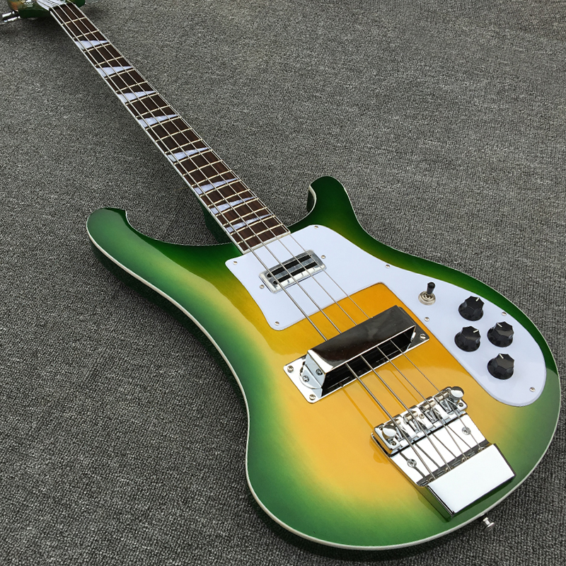 best selling 20frets 4 strings electric bass guitar in green burst color real photo show. Black Bedroom Furniture Sets. Home Design Ideas