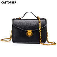 Flap Bag Genuine Leather Women Small Tote Messenger Bag Cowhide Fashion Chain Handbags Ladies Fashion Crossbody Lock Bags Famous