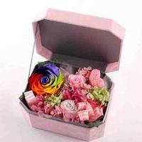 פרח סבון עלה קופסא מתנה בדרגה גבוהה מתנות יום הולדת של חג האהבה הסינית