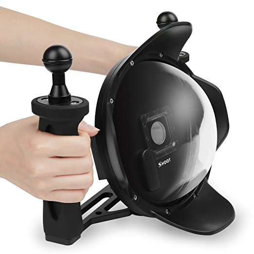 Dome Port 6 inch Upgraded V3 0 Transparent Housing Dome with Handheld Tray Stabilizer for GoPro