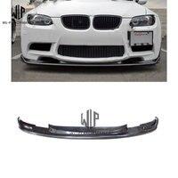 עבור BMW 3 סדרת E92 remould HM סגנון רכב גוף ערכת HM פחמן מול שפתיים מול גלגלת V סוג נמוך יותר שפתיים פגוש קדמי 2005 2012-בפגושים מתוך רכבים ואופנועים באתר