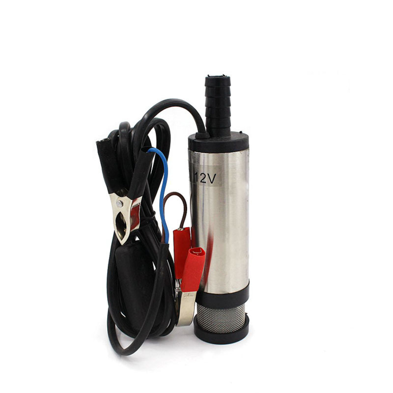 12V 24V DC Electric Submersible Pump For Pumping Diesel Oil Water Fuel Transfer 38MM Stainless Steel Shell 12L/min Car Portable