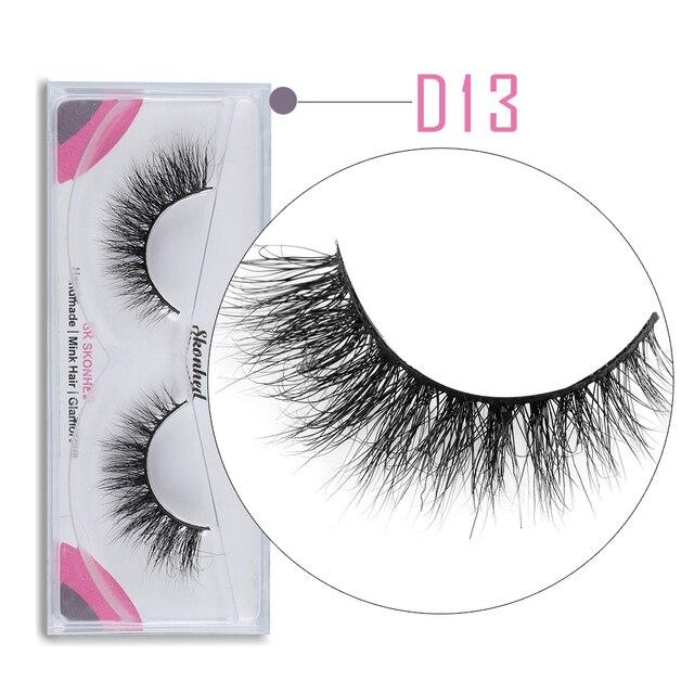 ef46d7ba935 1Pair D13 Makeup 3D Mink Hair False Eyelashes Handmade Thick Natural Long  Full Volume Fake Eye Lashes Beauty Extension Tools