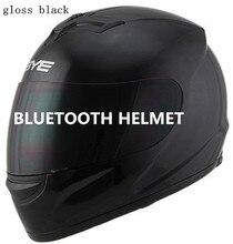 2017 Conjunto fone de Ouvido Bluetooth Interfone para Motocicleta Cavaleiro Capacete BT capacete de motocross para a música e telefone chamada