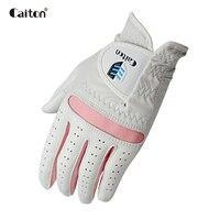 Caiton Whole sheep skin Women's Golf Glove lady Girls leather gloves