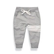 цена Children Pants 2019 New Autumn Baby Boys Girls Harme Pants White Stripes Printed Kids Trousers Toddler Leggings For 2-7Y онлайн в 2017 году