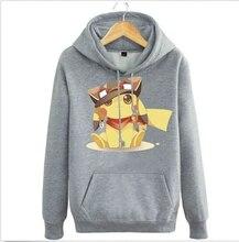 Anime Pokemon Tasche Monster Tier Pikachu Grau Hoodie Jacke Mantel Pullover Sweatshirt Cosplay Kostüm