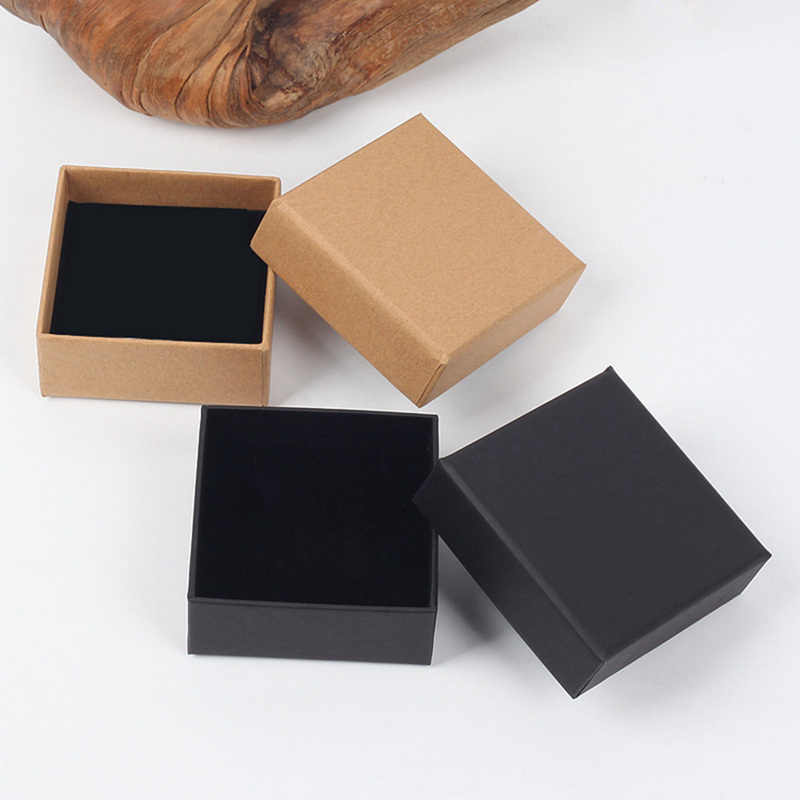 1PC Small Black Kraft Packaging Box DIY Craft Paper Cardboard Box For Wedding Gifts Soap Candy Gift Paperboard Packaging Box