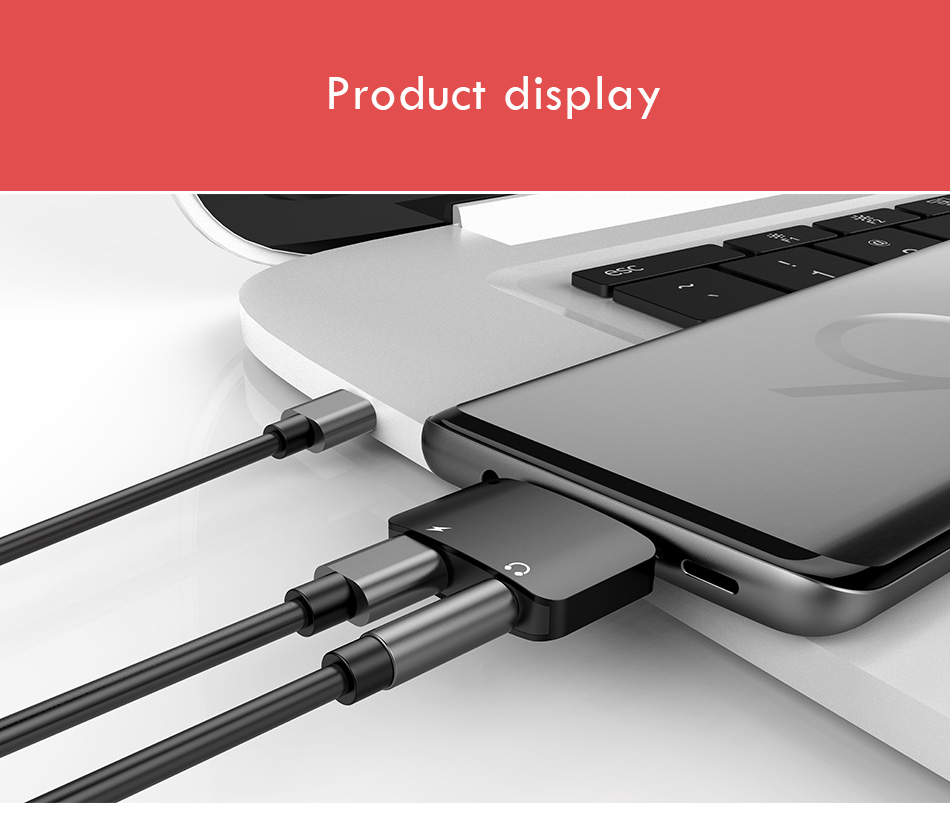 !ACCEZZ 2 in 1 Usb Type C to 3.5mm Aux Audio And Charger Adapter For Xiaomi 6 Nubian n17 Charge Headphone Jack Connect Splitter (8)