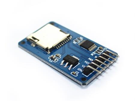 Micro SD card mini TF card reader module SPI interfaces with level converter chip Connec ...