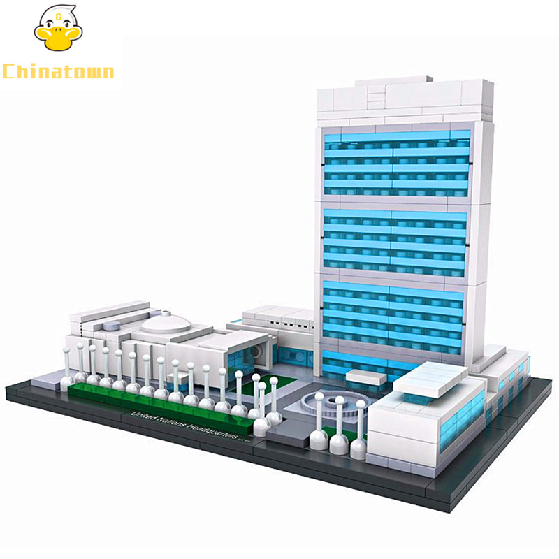 LOZ Architecture Mini World Famous United Nations Headquarters Building Blocks Sets City Model Bricks Classic Creator Kids Gift mr froger loz taipei 101 tower diamond block world famous architecture series minifigures building blocks classic toys children
