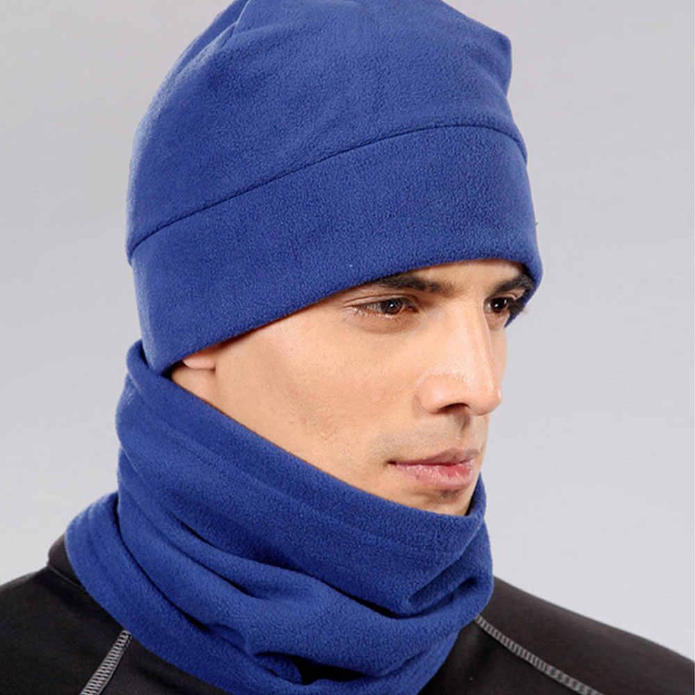 b53b1ececdd ... Cold Weather Polar Fleece Wool Thermal Neck Gaiter Tube Warmer Half  Face Mask Winter Snowboard Scarf
