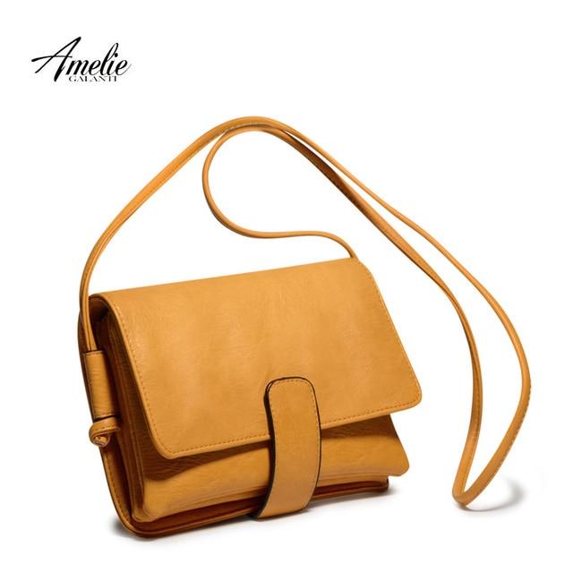 AMELIE GALANTI Fashion crossbody bags satchels high quality silt pocket solid cover hasp flap ladies office original design