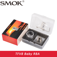 100 Original Smok TFV8 Baby RBA Coil And V8 RBA Exclusive Glass Tube Sealing Rings Fit