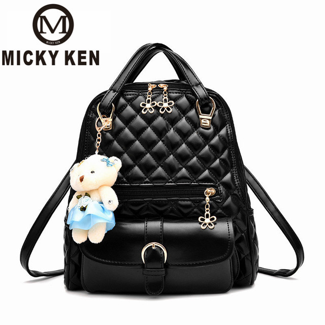 MICKY KEN Leather Backpack Women School Bags for Teenagers Laptop Notebook  Travel Fashion Backpack Teenage Girls High Quality 72ef403ff9