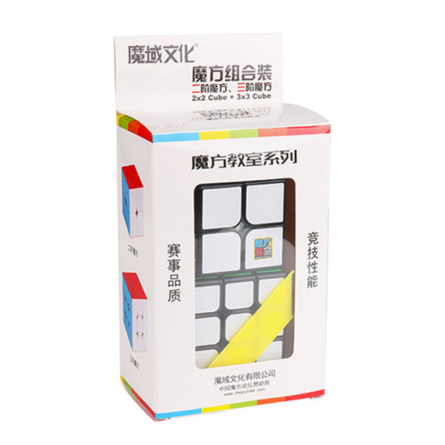 Moyu Magic Cube Set Classroom 2x2 + 3x3 Magic Cube Speed Cubes Set Educational Toys for Children Kids Cubo MagicoPuzzles & Games