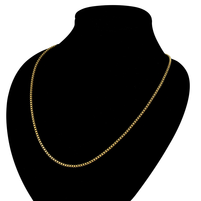 d052cfcc603e7 2MM Mini Two Tone Stainless Steel Chain Necklace For Women Female Gold  Color Collar Necklace Fashion Jewelry Sale
