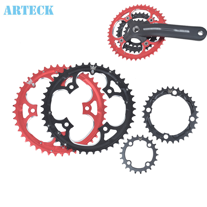 22T 32T 44T MTB Mountain Cyklar Road Cyklar Crank Hollow Repair Crankset Chainrings Tandskiva Delar