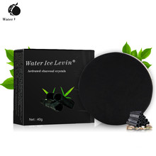Water Ice Levin Bamboo Charcoal Handmade Soap Skin Whitening Soap Blackhead Remover Acne Treatment Face Hair Care Bath Skin Care