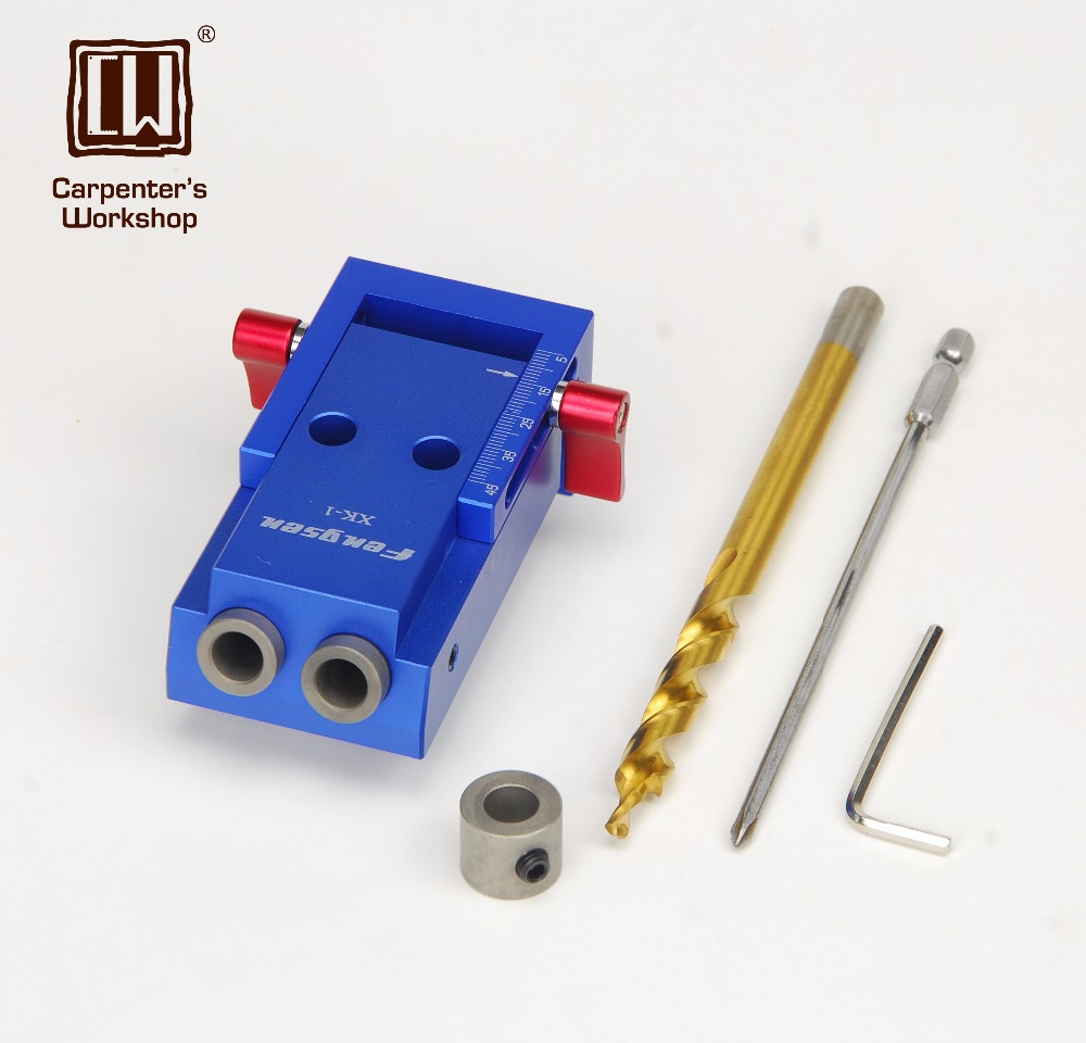 Kit de plantillas de agujeros de bolsillo de estilo mini para juego de brocas escalonadas de trabajo en madera Kit de plantillas de agujeros de bolsillo