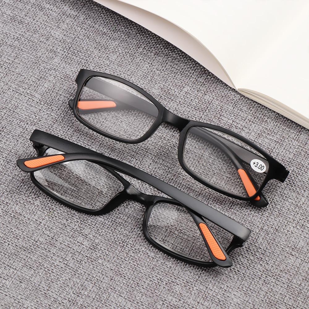 +1.00~+4.00 Fashion Hot Men Women Portable Ultra-light Fashion Reading Glasses Resin Anti-skidding Full Frame Resin Eyeglasses