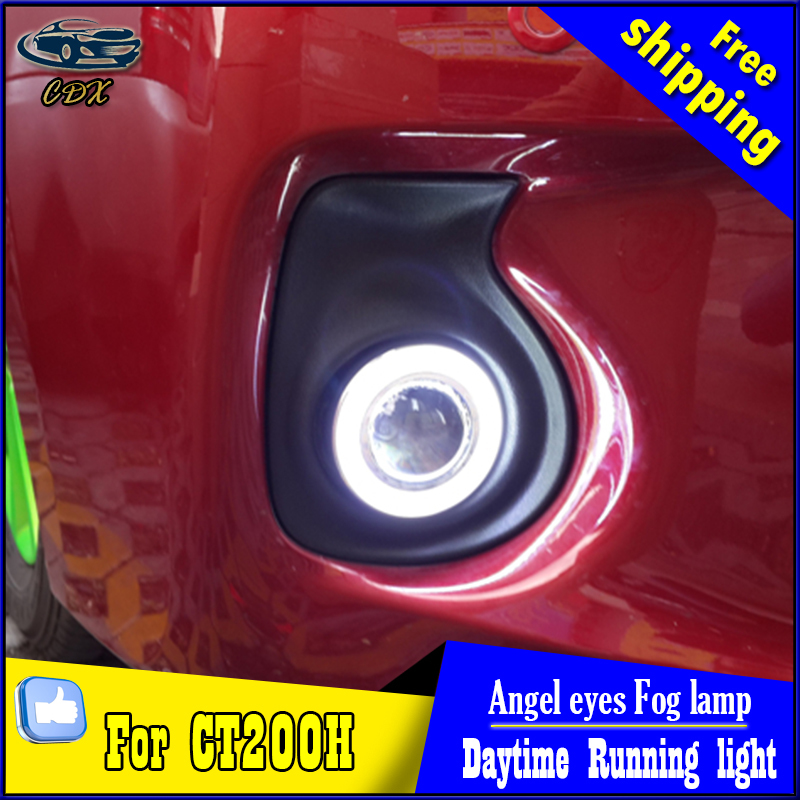 CDX car styling angel eyes fog light  for CT200h sedan 2011-2013 LED fog lamp LED Angel eyes LED fog lamp Accessories купить