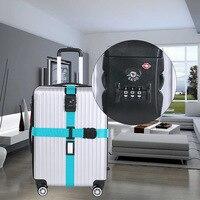 Регулируемые дорожные багажные ремни для чемодана с TSA 3-цифровой кодовый замок чемодан упаковочный ремень с tsa замком