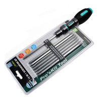 Free Shipping Brand Proskit SD 9816 16 In 1 Reversible Ratchet Precision Screwdriver Set