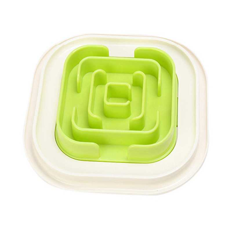 Cute Pet Maze Bowl for Developing Healthy Diet Dogs Plastic Food Slowing Eating Speed Feeding Bowl