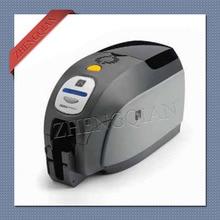 Zebra zxp3 id card printer single side pvc card printers with one 800033 340cn05 YMCKO ribbon