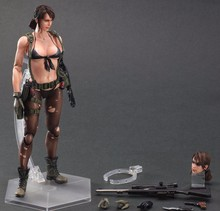 Play Arts Kai Metal Gear Solid 5 The Phantom Pain Quiet Venom Snake PA 25cm PVC Action Figure Doll Toys Kids Gift Brinquedos