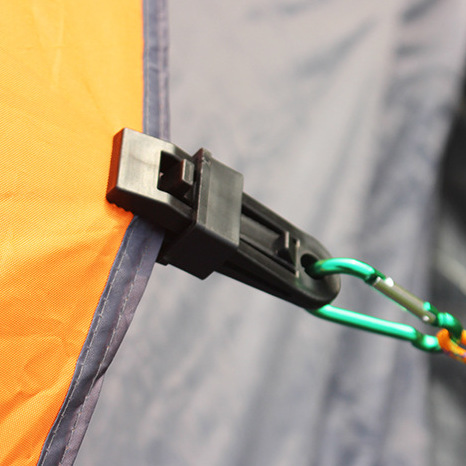 2 Pcs/Set Selling Tents Awning Wind Rope Clamp EDC Outdoor Camping Plastic Clip Clip Tents Awning Accessories Equipment Tools