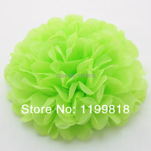 "Free Shipping100pcs 14"" Apple Green Wedding Party Decor  Craft Paper  Flower Paper Tissue Pom Pom"