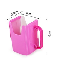 Home Baby Retractable folding Infant Learn to Drink Cups Toddler Milk Bracket Kids Prevention Spoill Drink Boxes
