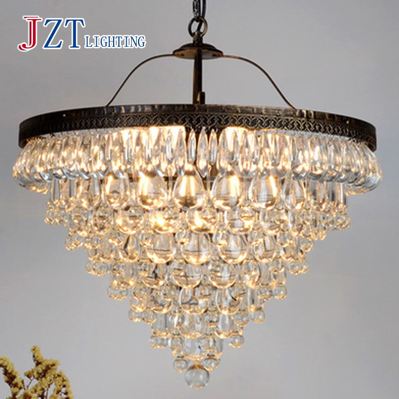 T Boreal Europe Style Crystal Lighting For Bedroom Aisle Iron retro Dining Room pendant lights Modern Simple With E14 LED Bulbs a1 master bedroom living room lamp crystal pendant lights dining room lamp european style dual use fashion pendant lamps