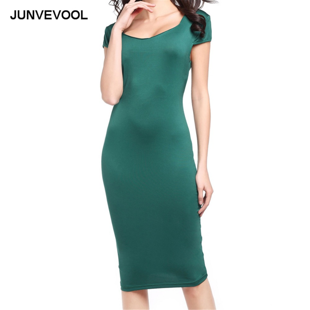 Bodycon Slim Dress Vintage Women Summer Office Wear To Work Clothing Female  Party Club Elegant Beach 2017 Fashion Dresses-in Dresses from Women s  Clothing ... df348b2517f7