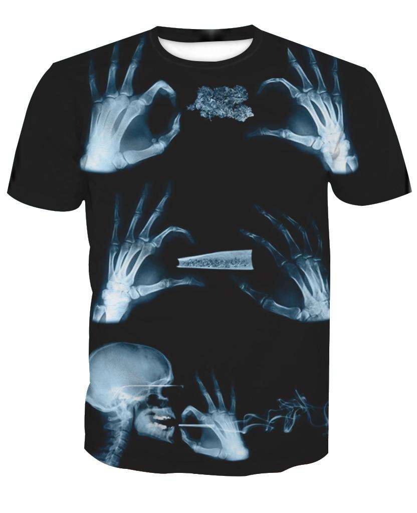 2019 Mode 2018 Heißer Verkauf Neue Mode 3d Skeleton Hand Druck Casual Kurzarm T-shirts Nach Maß Freies Verschiffen M Zu 6xl Fabrik Outlet