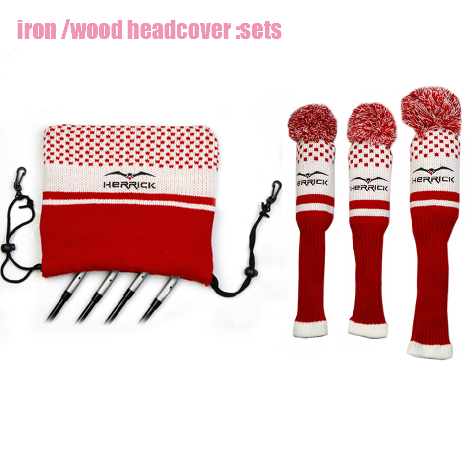 Image 3 - New Golf Clubs  Fairway Wood  headcovers  knitting wool covers 1#3#5# covers irons headcover Golf Accessories Free Shipping-in Golf Clubs from Sports & Entertainment